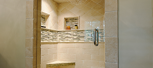 Custom shower to complete your Skidaway Island home.